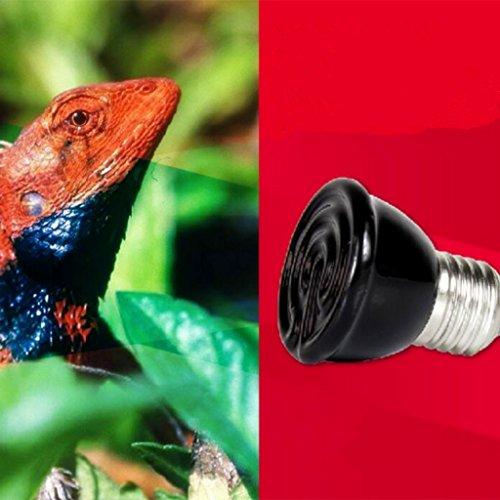 Mini-emisor Lámpara Cerámica Infrarroja Criadora Reptil Bombilla Bajo Como Mascota Iluminación - 40w
