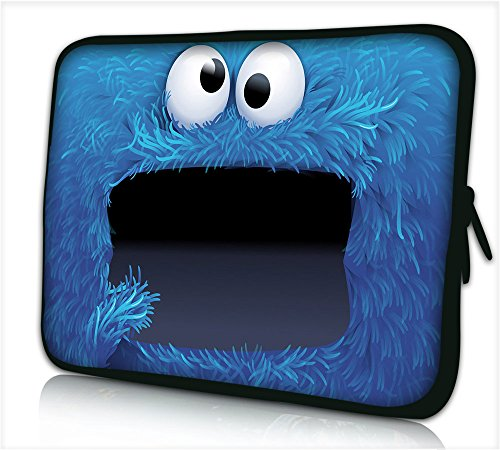Funky 10,1-10,2 Zoll Tablet Hülle, laptoptasche - zoll Fall Neopren für Notebooks Dell HP Macbook Samsung Apple Toshiba (cookie) (Tablets Und Samsung Von Laptops)