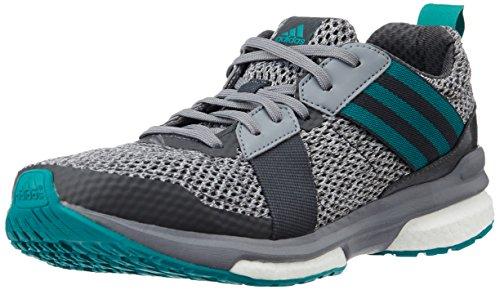 adidas Revenge M, Chaussures de Running Entrainement Homme, Noir Vert / gris (gris perspective / vert équipement / gris)