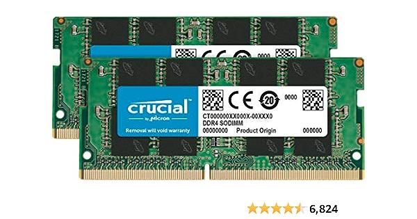 Crucial RAM 16GB Kit (2x8GB) DDR4 2666 MHz CL19 Laptop Memory CT2K8G4SFRA266