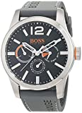 Hugo Boss Orange Paris Men's Quartz multi dial Grey Silicone Strap 1513251