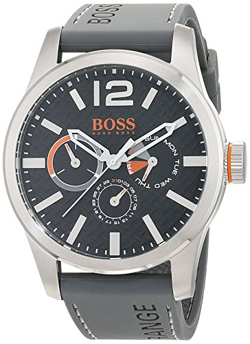 Hugo Boss Orange 1513251 Herren Armbanduhr, Quarz, mehrere Zähler auf dem Zifferblatt, Silikonarmband