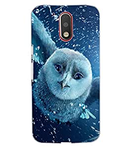 ColourCraft Fantasical Owl Design Back Case Cover for MOTOROLA MOTO G4