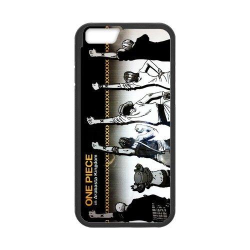 """One Piece Étui en silicone TPU Coque de protection pour iPhone 6(4,7""""inch) Étui avec Screen Protector, Mobile Phone Case Back Cover Blanc Noir for iPhone 66S (4.7inch)"""