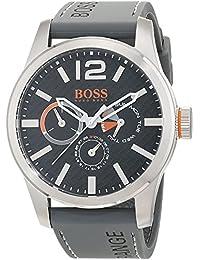Hugo Boss Orange Paris Men's Quartz multi dial Grey Silicone Strap 1513251