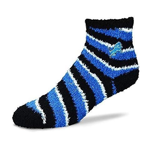 Detroit Lions Pro Stripe Sleep Soft Sock by For Bare