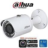 Professionelle IP-Kamera (5 Megapixel, WDR 120db, Nachtsicht, Modell 2018, Dahua IPC-HFW1531S, Mobile Überwachung mit i