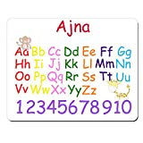 Ajna–personalisierbar Kids Alphabet und Zahlen Educational Premium Mauspad (5Dick).