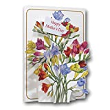 MOTHERS DAY - Freesias - a 3D Pop Up Greeting Card from The Pictoria Press