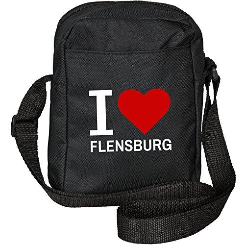 Preisvergleich Produktbild Umhängetasche Classic I Love Flensburg schwarz