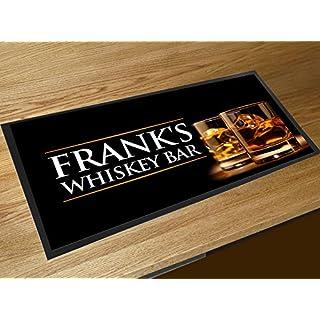 Artylicious Fußmatte mit Whiskey für eigene Kneipe/Bar, personalisierbar, Schwarz