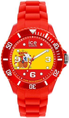 ICE-Watch World Women's Quartz Watch with Multicolour Dial Analogue Display and Red Silicone Bracelet WO.ES.S.S.12