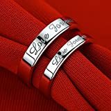 #4: forever couple rings set adjustable.1 piece male & 1 female