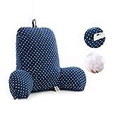 GH&YY Komfortable Baumwolle lordosenstütze Kissen, Bett Kissen Stuhl Lesung-Kissen Support für Kissen zurück T-förmige einfügen Sofa Sessel zurück unterstützt-A 55x42x20cm(22x17x8)