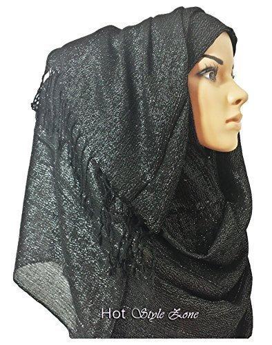 HotStyleZone-Plain-Shiny-Shimmer-Glitter-Sparkly-Scarf-Hijab-Shawl-Wedding-Sarong-Abaya