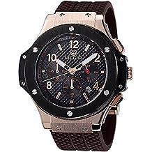 Megir - Reloj deportivo de cuarzo para hombre, silicona, esfera grande, diseño militar
