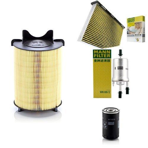 Preisvergleich Produktbild Mann-Filter Service Paket mit 1x Luftfilter C14130, 1x Freciousplus Innenraumfilter FP2939, 1x Kraftstofffilter WK69/2, 1x Ölfilter W719/30