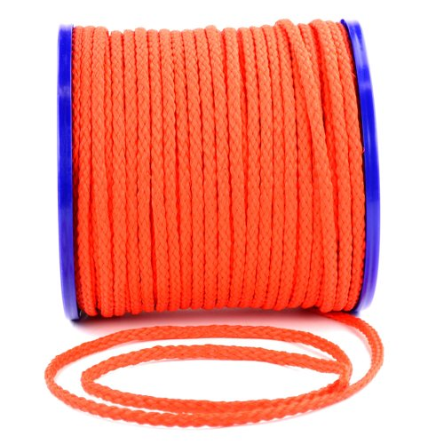 wellenshop Seil Tau Leine Tauwerk Durchmesser Ø8 mm Länge 50 m Kunststoff Polyethylen Orange Schwimmfähig Bruchlast 400kg