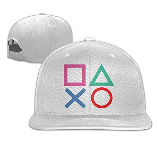fboylovefor Playstation Joypad Flat Bill Snapback Adjustable Ball Hat Black (Cap Playstation)