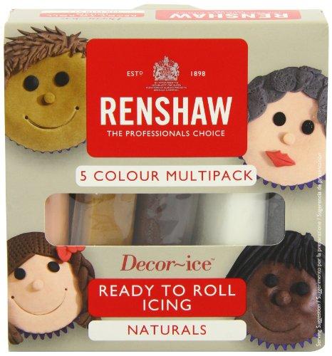 Renshaw Multipack Natural Colours 5 x 100g (Fondant Multi Pack)