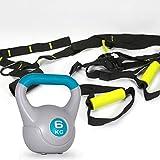 FITNESS-SET Slingtrainer + Kugelhantel 6 kg Schlingen Gewicht Schlingentrainer Sling Trainer ~nx228+