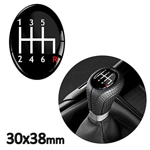Skino 1x Silicona Adhesivo pomo cambio Oval 30x