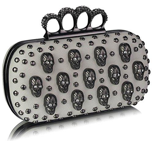 Knuckle Handtasche Beaded Abschlussball Elfenbein Frauen Damen S2 Brauthochzeits Abend Partei TrendStar Handtasche Kasten qnwx1p6tvg