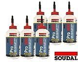 Sparset 6x 750ml Soudal Pro 30D wasserfester gebrauchsfertiger Holzleim auf PVAC-Basis