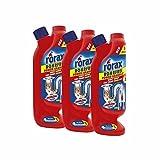 3x rorax Rohrfrei Power-Granulat Dosierflasche 600g - Wirkt sofort & löst selbst Haare auf