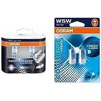 OSRAM H7 Night Breaker Unlimited Halogen-Scheinwerfer Duobox und W5W Cool Blue Intense Standlicht, je 2 Lampen