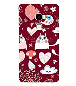 FIOBS red cute eyes kitten Designer Back Case Cover for LeTv Le Max :: LeEco Le Max