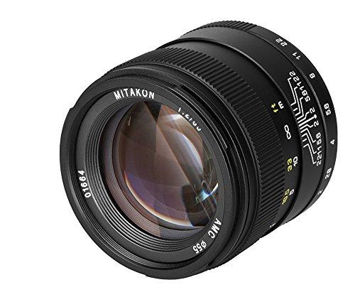 Zhongyi Mitakon Creator 85 mm Objektiv f/2 Festbrennweite für Nikon F Bajonett (85 Festbrennweite Nikon)