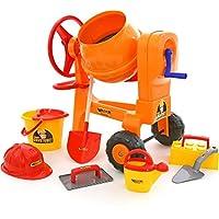 Polesie Polesie50649 Play Cement-Mixer with Bucket Set Worker Construct Toy (8-Piece)