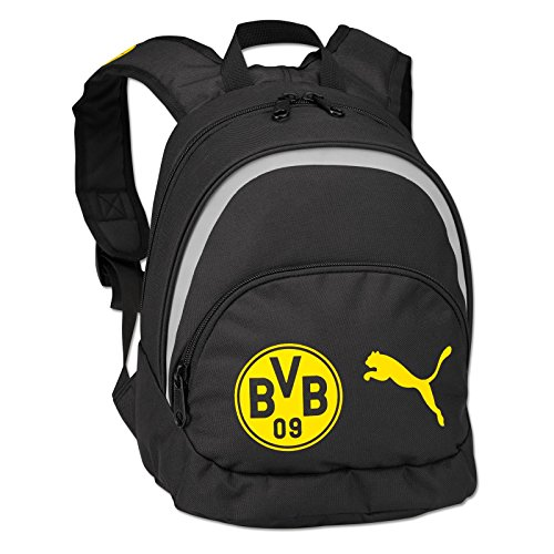 PUMA Kinder Rucksack BVB Kids Backpack Black-Cyber Yellow, 32 x 29 x 13 cm