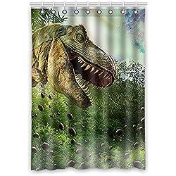"""Personalizado dinosaurio (1) cortina de ventana 52""""(W) X 120cm (H) cm tela de poliéster resistente al agua, One-Side impresión, estilo de una pieza (9orificios), poliéster, Dinosaur(1), 52x120(inches)"""
