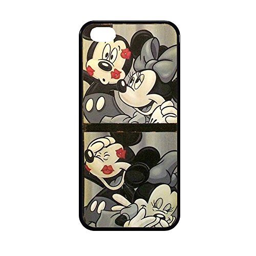 Coque Etui Cover caoutchouc Pour Samsung Iphone Mickey minnie Mouse amour bisous (IPHONE 5/5S)