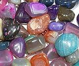 polierte Trommelsteine Achate 500 g-Beutel Edelsteine bunte Mischung Gr/ö/ße 2 bis 3 cm