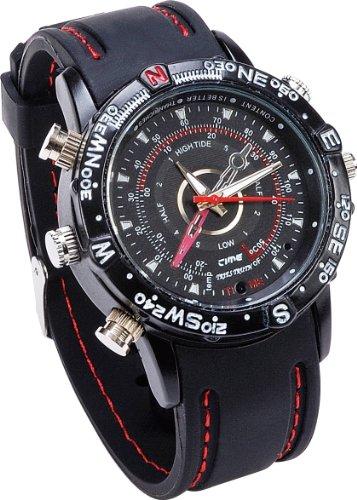 orologio spia tecnologico spy watch mp9 con microcamera incorporata - rivestito in gomma