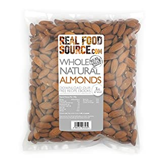 RealFoodSource Almonds, Whole & Natural (1kg)