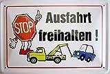 Blechschild 20x30cm - Stop Ausfahrt freihalten Hinweis Schild Einfahrt