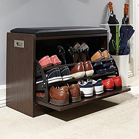 Deluxe Base-Contenitore per scarpe-Confezione da 12 paia di corridoio Bedroom-Organiser
