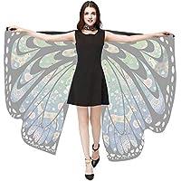 Alas de Angel Mariposa de Navidad para Mujeres Bufandas del Mantón Poncho Accesorio de Vestuario Paradise Swallowtail