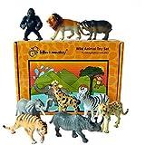 figuras de juguete de plástico de los animales de Safari - conjunto de 9 en cajas