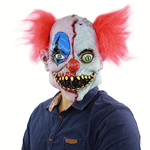 BEIAKE Halloween Horror Gesicht Clown Rotten Latex Ghost Mask Cosplay Kostümparty