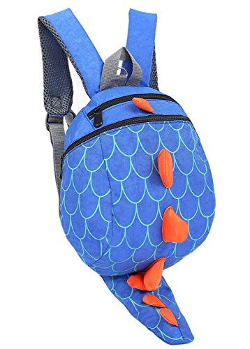 ZHUANNIAN Kinder Jungen Mädchen Rucksack Kindergarten Dinosaurier Backpack Kleinkind Schultasche mit Zügel (Blau)