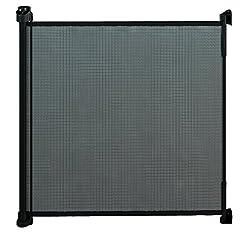 gaterol Active Lite schwarz-Klemmgitter/Abperrung aus Stoff, für Treppe und Tür, ausziehbar bis 140cm