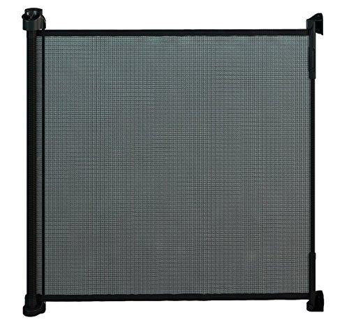 Gaterol Active Lite Schwarz – Ausziehbares Treppenschutzgitter und Türschutzgitter Rollo bis 140 cm