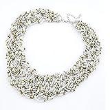 JMZDAW Halskette Anhänger Candy Farbe Perlen Damen Halskette Damen Dicke Halskette Und Veranstaltungsräume Schmuck Geschenk, C
