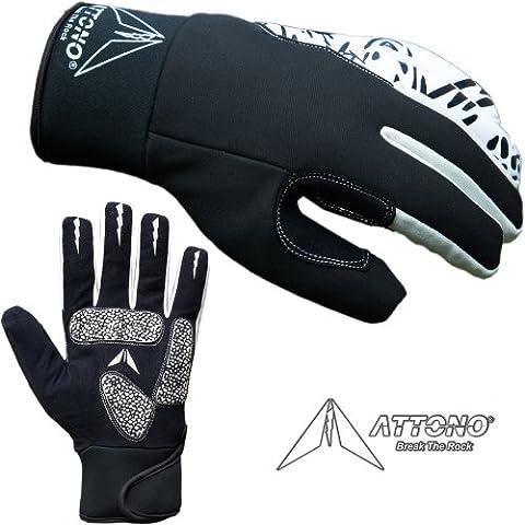 Attono®–Guanti invernali da ciclismo guanti Gel Ciclismo Invernali con membrana, XXL - 24 Bmx