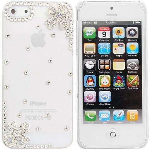 Crystal Diamond Pequeña Flor Decorado para el iPhone 5.